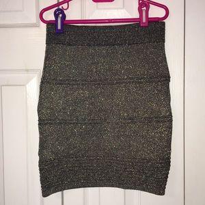 Gold Glitter Mini Skirt